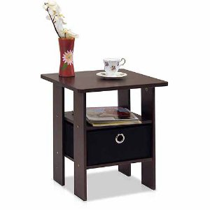 $11.62 Furinno 11157 Petite End Table Bedroom Night Stand