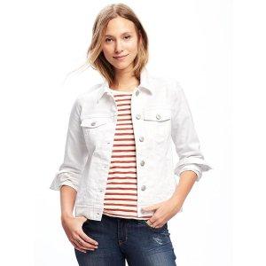 Stay-White Denim Jacket for Women