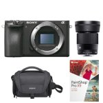 Sony a6500 Mirrorless Camera Body + Sigma 30mm f/1.4 DC DN Lens Kit