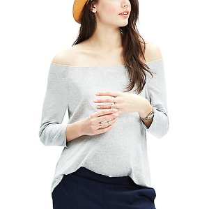 Hatch Maternity The Off-the-Shoulder Jersey Top