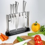 Kitch N' Wares 6 Piece Stainless Steel Knife Set With Acrylic Stand