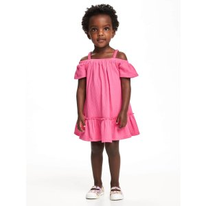 Crinkle-Jersey Off-Shoulder Swing Dress for Toddler | Old Navy