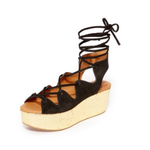 See by Chloe Lilly Wedge Lace Up Sandals | 15% off first app purchase with code: 15FORYOU