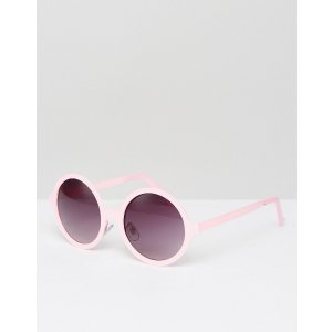 Jeepers Peepers Pink Round Sunglasses