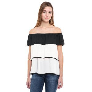 19 Cooper Tiered Ruffle Off-Shoulder Top | South Moon Under