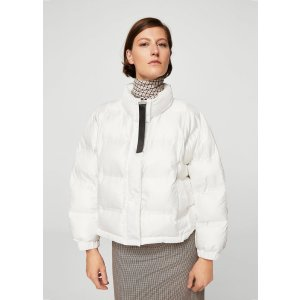 Quilted feather coat - Women | MANGO USA