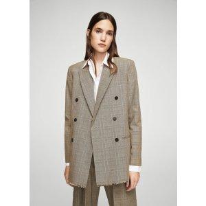 Check structured blazer - Women | MANGO USA