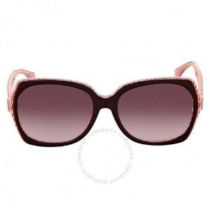 $79.99(Orig $345)FENDI Square Red Brown Asia Fit Sunglasses