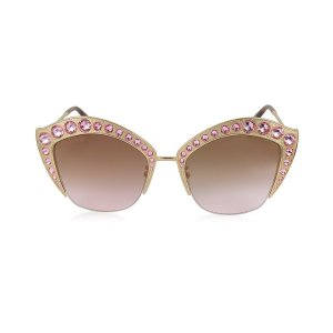 Gucci GG0114S Metal Cat Eye Women's Sunglasses