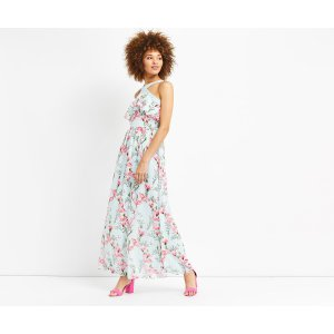 MAGNOLIA CHIFFON MAXI DRESS | Oasis