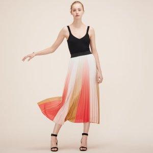 JUNIN Pleated long skirt - Skirts & Shorts - Maje.com