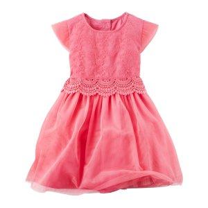 Toddler Girl Lace Layered-Look Dress   Carters.com