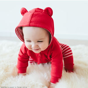 Baby Bear Hoodie In French Terry from Hanna Andersson
