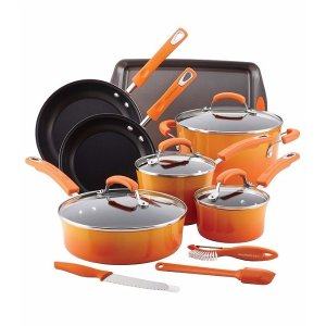 Rachael Ray® Red 14-pc. Hard Enamel Nonstick Cookware Set | Bon-Ton