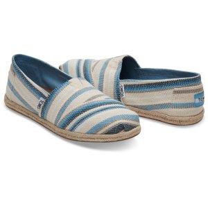Blue Aster Woven Stripe Women's Espadrilles