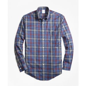 Non-Iron Regent Fit Signature Tartan Sport Shirt - Brooks Brothers