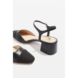 JOLENE Toe Cap Block Heels - Sale