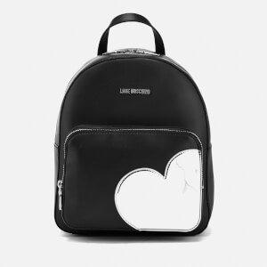 Love Moschino Women's Mirror Heart Backpack - Black