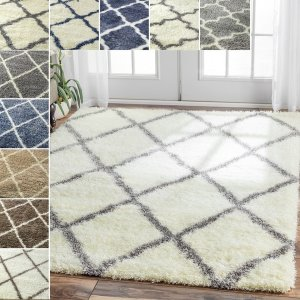 nuLOOM Soft and Plush Moroccan Trellis or Diamond Shag Rug (8' x 10') - Free Shipping Today - Overstock.com - 15180451