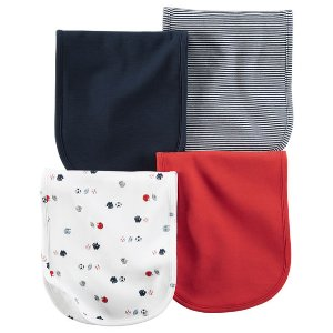 Baby Boy 4-Pack Burp Cloths | Carters.com