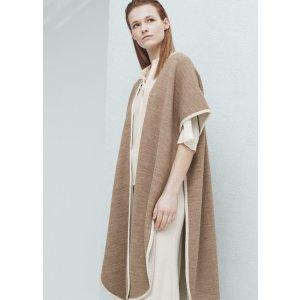 Contrast trims cape -  Women | OUTLET USA