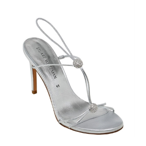 STUART WEITZMAN - 90MM TRIXIE SWAROVSKI & LEATHER SANDALS - SANDALS - SILVER - LUISAVIAROMA