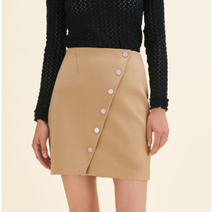 JUSTINE Short skirt with press studs