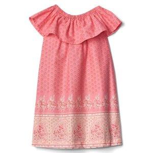 Floral border ruffle dress | Gap