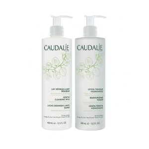 Moisturizing Toning Lotion & Cleaning Milk Duo | For Face and Eyes - Caudalie