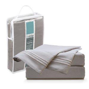 43% OffSable Premium SA-BD001 Bed Sheet Set, 4 Piece