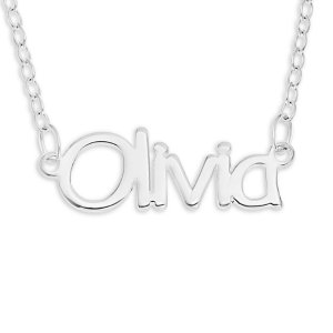 Personalized Name Necklace in Sterling Silver (10 Characters) - 16