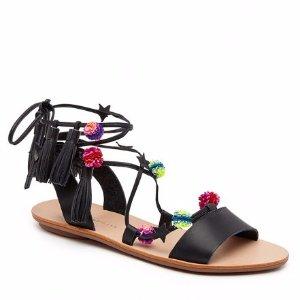 Loeffler Randall | Suze Ankle Wrap Sandal in Black | Loeffler Randall
