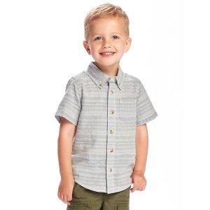 Dobby Pocket Shirt for Toddler Boys