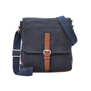 Fossil® Men's Davis Small Canvas Messenger Bag