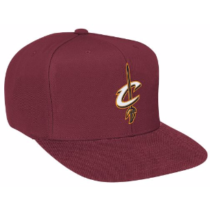 Mitchell & Ness NBA Solid Snapback - Men's - Accessories - Cleveland Cavaliers - Burgundy