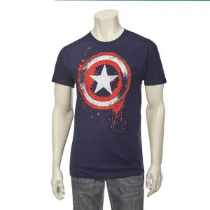 Captain America Guys Screen Tee: Shopko