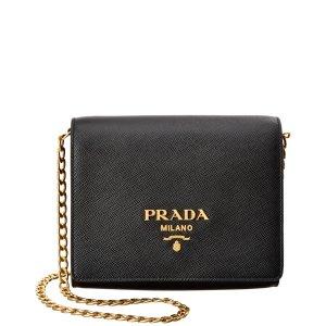 Prada Prada Saffiano Leather Shoulder Bag (429787201) | Bluefly.Com