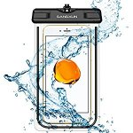 Waterproof Case, TPU Universal Luminous Glow Clear Underwater Pack Dry Bag Pouch for iPhone 7 Plus Samsung Galaxy S7 edge LG Cell Phones with New Design (Black)