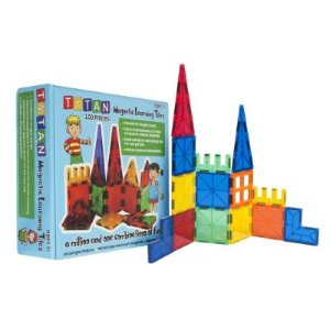Tytan Magnetic Learning Tiles Building Set with 100 pieces