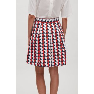 Flared cotton skirt - Red - Sale - COS US