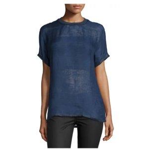 Versace Short-Sleeve Jewel-Neck Shirt