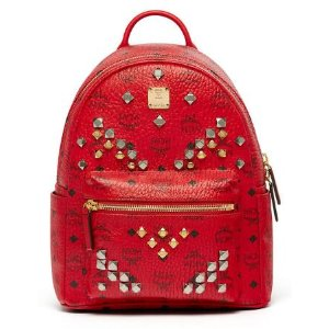 Small Stark Backpack in Ruby Red by MCM