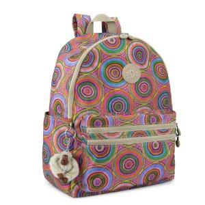 Bouree Printed Backpack - Late Dusk | Kipling