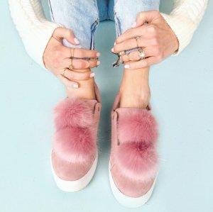 'Leya' Faux Fur Laceless Sneaker SAM EDELMAN @ Nordstrom