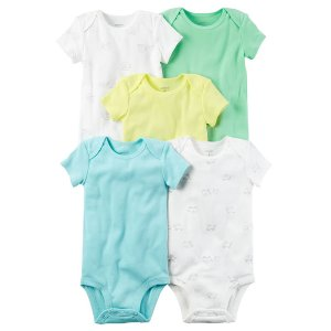 Baby Neutral 5-Pack Short-Sleeve Original Bodysuits | Carters.com