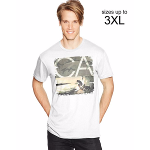 Men's Tee With Sandwashed CA Graphic | Hanes