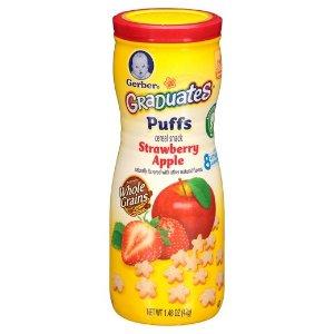Gerber Puffs Strawberry Apple - 1.48oz