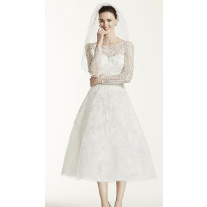 As-Is Tea Length Lace Tulle Wedding Dress