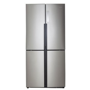 Haier 16.4 cu. ft. Quad French Door Freezer Refrigerator in Stainless Steel-HRQ16N3BGS - The Home Depot
