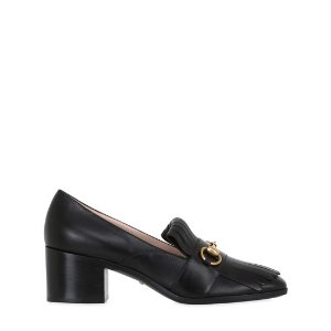 GUCCI - 55MM POLLY FRINGED LEATHER PUMPS